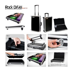 JOYO RD-3 RockDriver Series Coupe Driver Pedal Board Flight Trolley Case