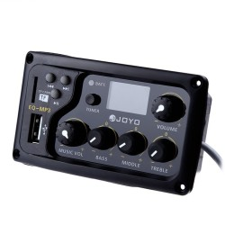 JOYO EQ - MP3 LCD Digital 3 Band EQ USB Pickup Preamp with Tuner