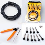 CM-15 - JOYO CM-15 Solder Free Patch Cable Kit with Tools 10 x 6.35mm Copper TS (Mono) connectors - Guitar Audio Cables by JOYO
