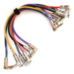 JOYO CM-05 6.3 mm Male to 6.3 mm Male Plug Shielded Mono Cable, 1.2' Length (Pack of 6)