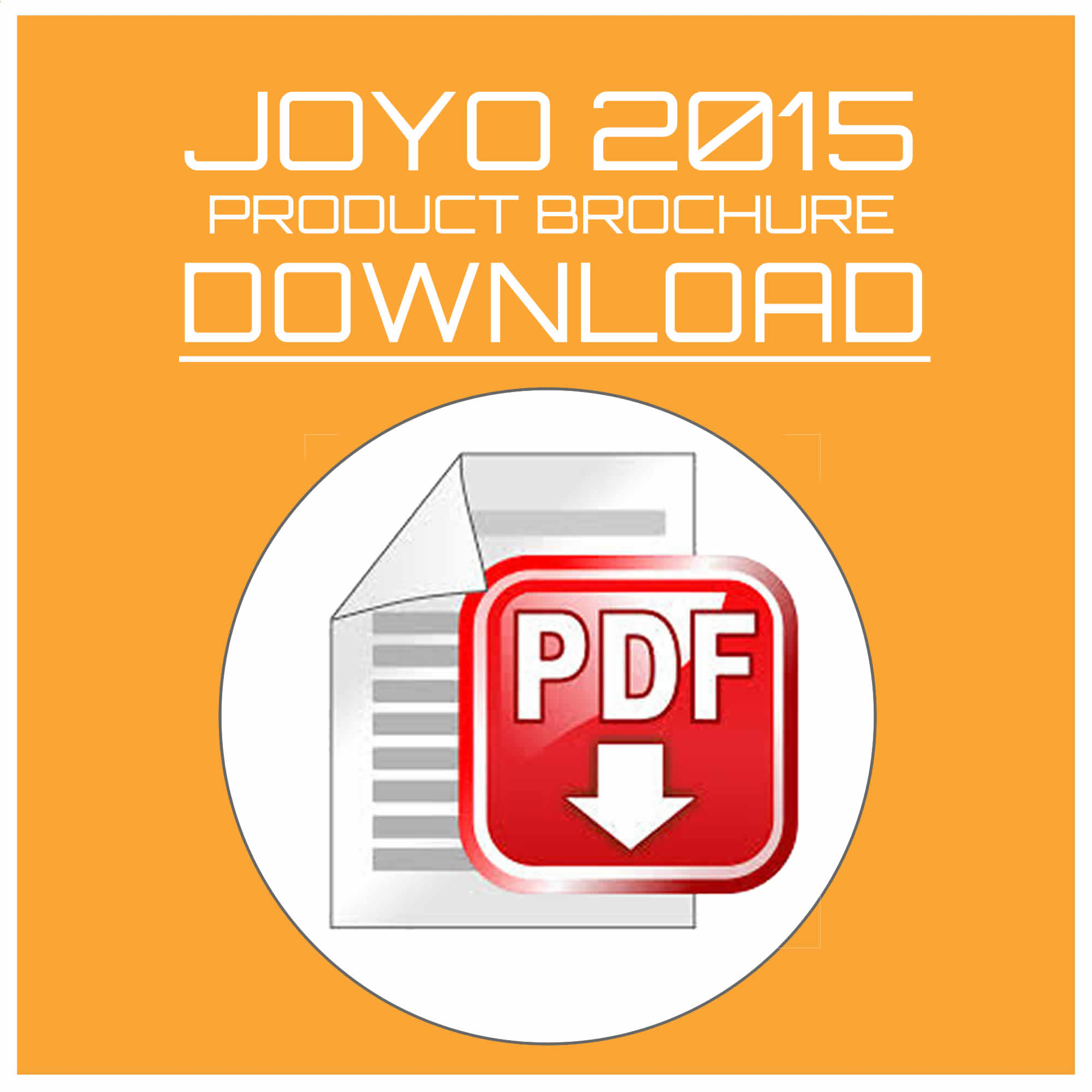 JOYO 2015 Product Brochure Download UK Distributor