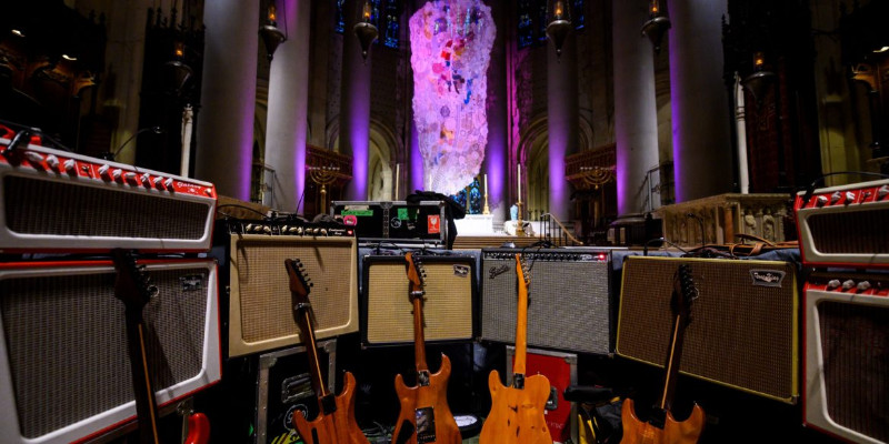 guitars in a church